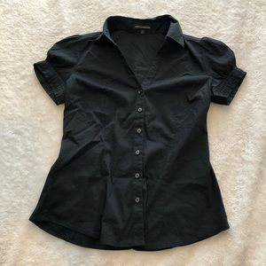 Express Black Short Sleeve Button Down- Size Small